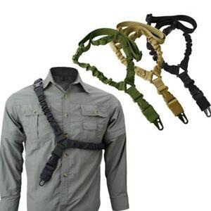 Tactical Single Point Rifle Gun Sling Shoulder Strap Nylon Adjustable Airsoft