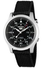 Seiko Automatic SNK809 SNK809K2 Men Black Dial Day Date Stainless Steel Watch