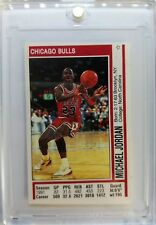 Rare: 1991 91-92 Panini Album Stickers Michael Jordan #116, Italian with Stats !