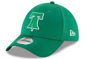 NEW Phillies St. Patrick's Day Dad Hat New Era 39THIRTY Flex Fitted Cap S/M