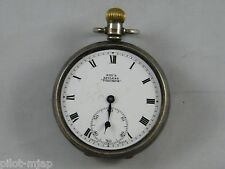 "VINTAGE ~ STERLING SILVER ~ DENNISON ~ ""KAY'S KEYLESS TRIUMPH"" POCKET WATCH 1934"