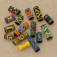 15pc Mixed Fabric Embroidery Dreadlock Bead Ethnic Colorful Hair Braid Cuff Clip