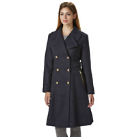 Jessica Simpson Womens Double Breasted Reefer Coat Navy M #NK7TQ-899