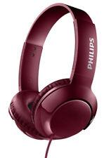 Philips On-Ear Kopfhörer Bass Plus SHL3070 Rot Bügelkopfhörer faltbar mit Kabel