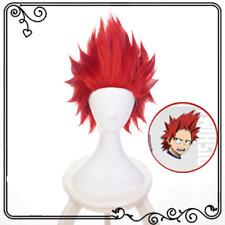 Anime My Boku no Hero Academia Eijirou Kirishima Red Short Hair Cosplay Full Wig