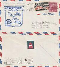 US 1958 AM 2 FIRST FLIGHT FLOWN COVER MIAMI FLA TO SAINT LOUIS MO