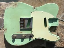 REAL LIFE RELICS AGED CUSTOM SURF GREEN TELE TELECASTER BODY NITRO LACQUER