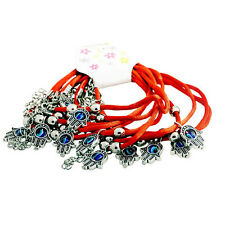 Dozen Of Red String Kabbalah Bracelet With Evil Eye Lucky Hamsa Charms