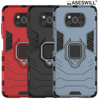 For Xiaomi Poco X3 / X3 NFC / X3 Pro Case Rugged Armor Ring Holder Stand Cover