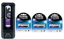 UNiROSS FAST SMART LCD Li-ION CHARGER for 18650,18350 ,RCR 123A + 4 x 18650 2400