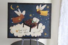 Dan DiPaolo Folk-Art 2002 Original Metal Pieced Wall Hanging Art Angel Goodnight