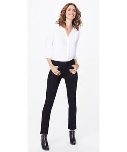 NYDJ Sherri Slim Black stretch Jeans Lift & Tuck Technology UK Size 10  £139.95