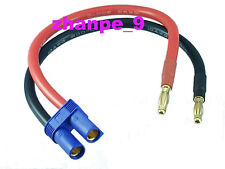 4mm Banana Bullets Plug to EC5 Female 10AWG 20CM cable for  for icharger308 406