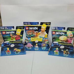 New Lego Dimensions  Homer 71202 / Bart 71211 / Krusty 71227 Simpsons fun pack