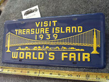 NEW WORLDS FAIR TREASURE ISLAND LICENSE PLATE ! CAR / TRUCK
