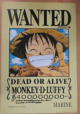 ONE PIECE POSTER MONKEY D. LUFFY  WANTED  42x29 CM NEW