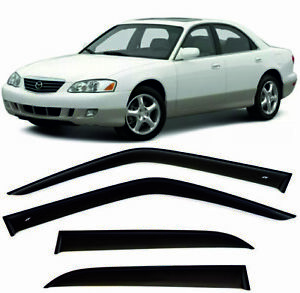 For Mazda Millenia 1994-2003 Window Visors Sun Rain Guard Vent Deflectors Shades
