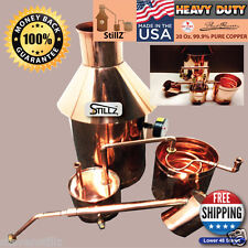 "6 Gallon Copper Moonshine Still+Thumper+Worm-Heavy 20oz Copper -Whiskey""StillZ"""