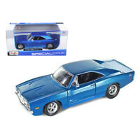 1969 Dodge Charger R/T Hemi Blue 1/25 Diecast Model Car by Maisto 31256bl