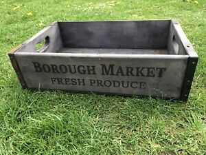 48cm Rustic Vintage Style Wooden Tray Borough Market London