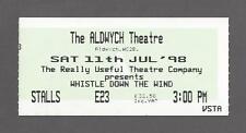 "Andrew Lloyd Webber ""WHISTLE DOWN THE WIND"" Marcus Lovett 1998 London Ticket"