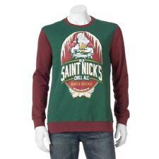 MEN'S ST. NICK/SANTA/CHRISTMAS PULLOVER FLEECE SWEATSHIRT - SIZE 3XLT - NEW/TAGS