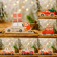 Wooden Christmas Santa Snowman Xmas Tree Ornament Festival Table Decoration Gift