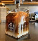 Starbucks Creative Milk Carton Glass Coffee Mug Single Cup Limited Edition 400ml