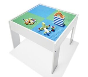 New Kids Wooden Construction Table With 2 Base Colour Play Craft Work