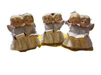3 Vintage Porcelain Singing Angels, Gifts From Around The World