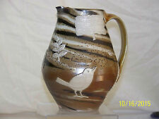 Matthew Metz Master Ceramist Hand Carved American Art Pottery Pitcher