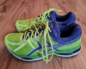 Asics Gel-Cumulus 17 Damen Laufschuhe Sneakers In Gelb Lila Gr.42,5 US10,5