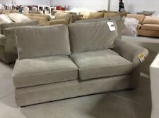 Pottery Barn Pearce Couch Sofa Sectional Pewter Velvet Right Arm Loveseat