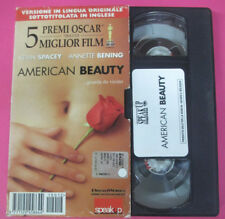 VHS film AMERICAN BEAUTY Kevin Spacey Annette Bening SPEAK UP (F107) no dvd