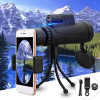 10X42 Zoom Monocular HD Telescope Telephoto Camera Lens + Phone Holder + Tripod