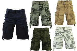 Geographical Norway Herren Cargo Shorts Camouflage Multi Pocket  Bermuda Sommer