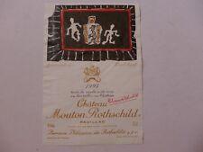 étiquette VIN CHÂTEAU  MOUTON  ROTHSCHILD  1994    PAUILLAC