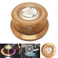 NEW 3-in-1 Record Clamp LP Disc Stabilizer Turntable Vibration Balanced Golden