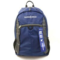 Swiss Gear Backpack Blue New Student School Bottle Mesh Lightweight Packable Zip