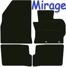 Tailored Deluxe Quality Car Mats Mitsubishi Mirage 2013-2017 ** Black **