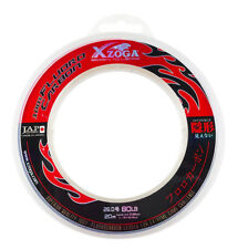 Xzoga 100% Fluorocarbon Invisible Fishing Leader Clear Line 80lb/20m (1) JAPAN