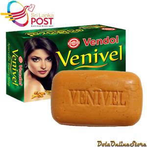 VENDOL Venivel Ayurveda Herbal Beauty Soap 80g 78% TFM Natural From Sri Lanka