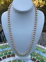 Vintage Napier Knotted Champagne Faux Pearl Necklace~BEAUTIFUL!