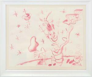 "KENNY SCHARF ""CAPTAIN FUN"" 1983   ORIGINAL DRAWING ON PAPER   22X28""   GALLART"