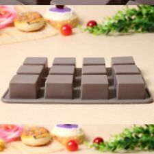 Square Food Grade Silicone Cake Mold Fondant Chocolate Cookie Mould Bakeware