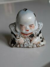 Vintage Antique Satsuma Porcelain Buddha/Scholarly Figure