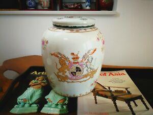 Große Deckelvase, China Porzellan, Motive: British East India Company