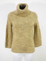 SCHUMACHER Damen Pullover Gr 36 DE / Braun Glitzer Rollkragen ( R 2749 )