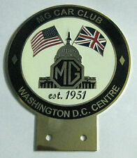 MG CAR CLUB OF WASHINGTON DC CENTRE CAR GRILL BADGE EMBLEM MG JAGUAR TRIUMPH POR