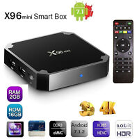 X96 Mini Android 7.1 Smart TV BOX Quad Core 16GB 4K 3D Media Player WIFI S905W